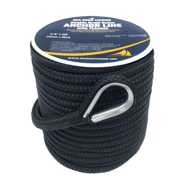 Sea Rock Marine Double Braided Nylon Anchor Line_Anchor Rope_0